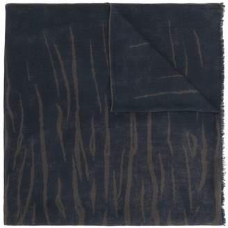Salvatore Ferragamo tiger stripe print oblong scarf