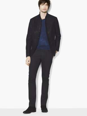 John Varvatos Suede Shawl-Collar Jacket