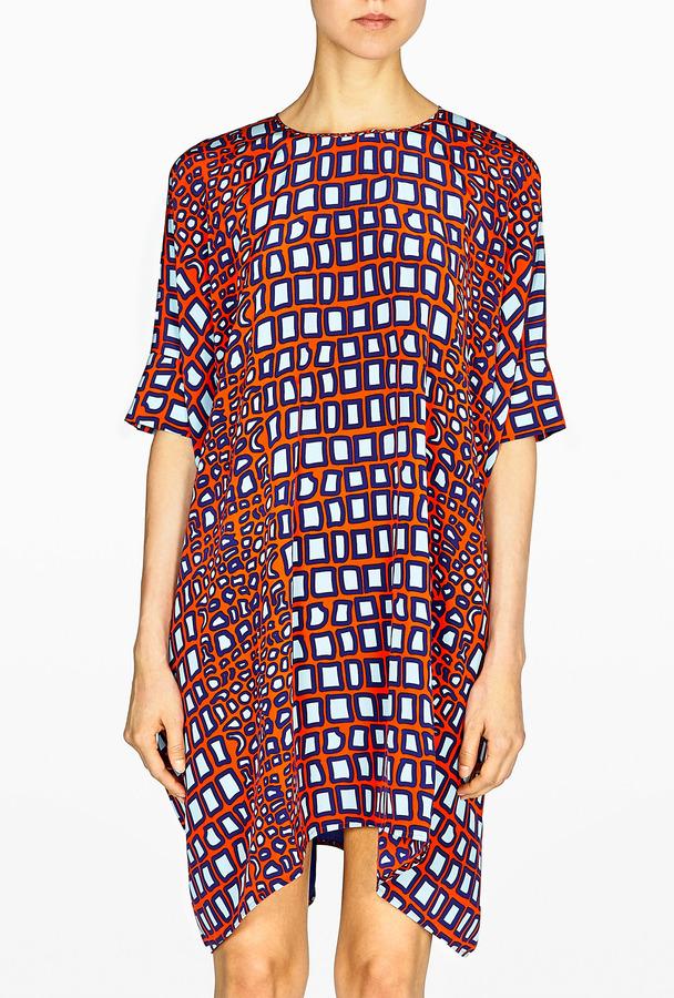 Richard Nicoll Stella Double Georgette Printed Dress