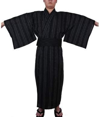 FANCY PUMPKIN Men's Japanese Yukata Japanese kimono Home Robe Pajamas Dressing Gown