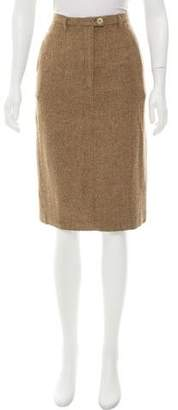 United Bamboo Herringbone Wool Skirt