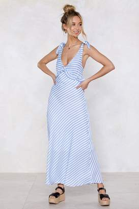 Nasty Gal Cross the Line Striped Dress