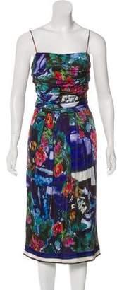 Alberta Ferretti Floral Midi Dress