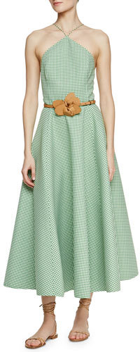 MICHAEL Michael Kors Michael Kors Gingham Fit-and-Flare Dress