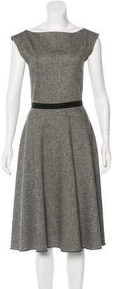 Behnaz Sarafpour Wool-Blend Midi Dress