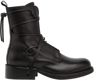 Bikkembergs Squadron Lace-Up Leather Boots