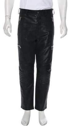 Balmain Ribbed Leather Pants