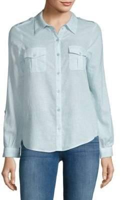 Joie Dumas Pinstripe Button-Down Shirt