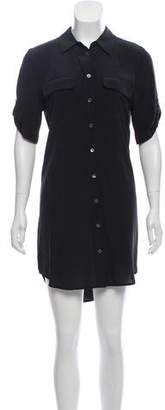 Equipment Short Sleeve Mini Dress