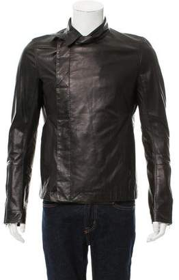 Rick Owens Button-Up Leather Jacket