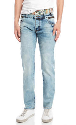 Desigual Zipper Detail Regular Fit Jeans