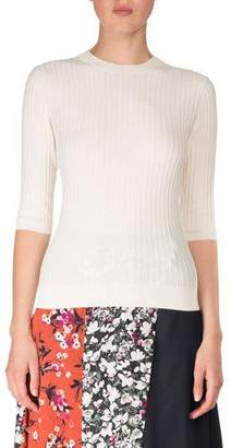Acne Studios Crewneck Short-Sleeve Cotton Pullover Top
