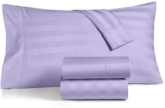 Charter Club Damask Stripe Queen 4-Pc Sheet Set, 550 Thread Count 100% Supima Cotton, Created for Macy's Bedding