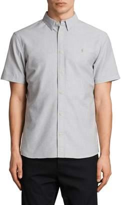 AllSaints Huntington Regular Fit Short Sleeve Sport Shirt