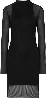 Dion Lee Ribbed-knit Mini Dress - Black