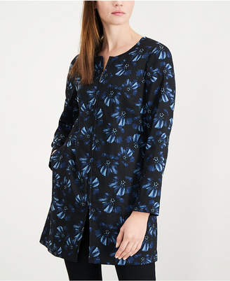 Alfani Printed Jacquard A-Line Jacket, Created for Macy's