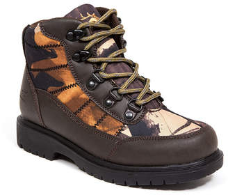 Deer Stags Hunt Boy Rugged Thinsulate Water Resistant Camo Hiker Boot