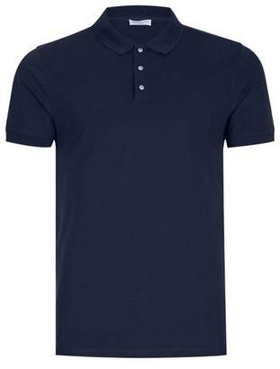 Topman Mens Blue SELECTED HOMME Navy Slim Fit Polo