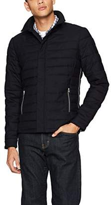 Scotch & Soda Men's Short Quilted Jacket in Wool-Blend Quality