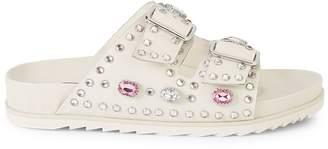 Ash Embellished Leather Sandals
