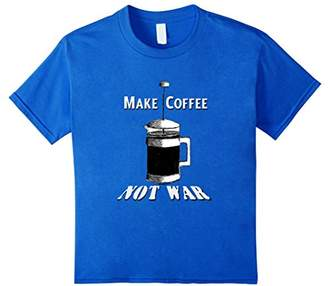 Make Coffee Not War humorous vintage french press funny tee