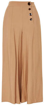 Topshop TALL Buttoned Palazzo Pants