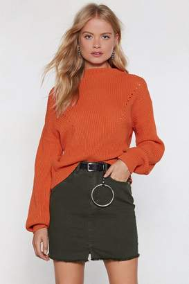 Nasty Gal What of Knit Cable Sweater
