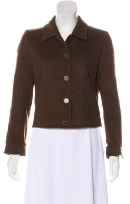 Calvin Klein Collection Cashmere Button-Up Jacket