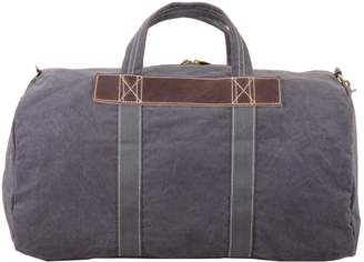 EAZO - Canvas & Leather Duffle Bag In Grey