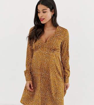 New Look Maternity tea dress in yellow