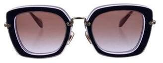Miu Miu Oversize Logo Sunglasses