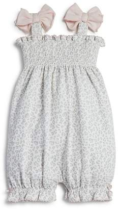 Bloomie's Girls' Animal Print Knit Romper, Baby - 100% Exclusive $30 thestylecure.com