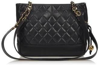 Chanel Vintage Matelasse Caviar Leather Shoulder Bag