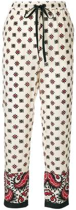 RED Valentino floral drawstring trousers