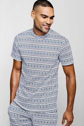 boohoo Aztec Print T-Shirt
