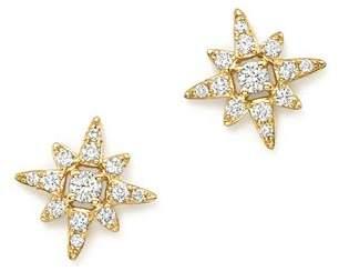 KC Designs 14K Yellow Gold Small Starburst Diamond Stud Earrings