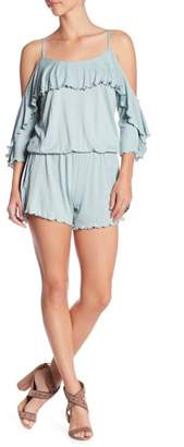 Green Dragon Cold Shoulder Drape Romper