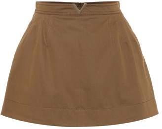 Valentino Stretch cotton twill miniskirt
