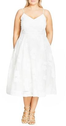 City Chic Floral Mesh Midi Dress $119 thestylecure.com