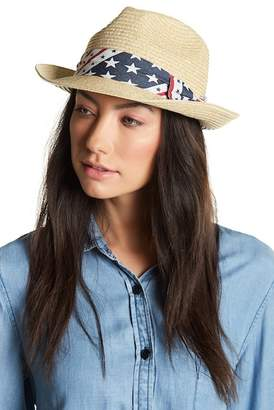 David & Young Stars Print Band Fedora