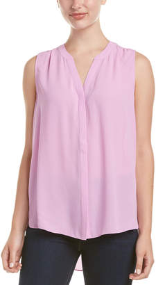 NYDJ Sleeveless Pintuck Pleat-Back Top