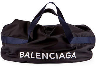 Balenciaga Nylon Logo Basic Duffel Bag