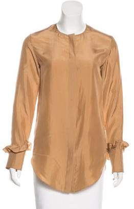 Nina Ricci Silk Long Sleeve Top