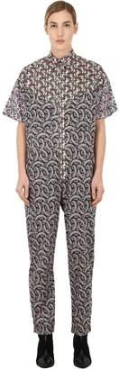 Etoile Isabel Marant Lindsie Floral Print Cotton Jumpsuit