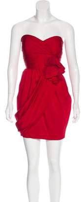 Robert Rodriguez Strapless Silk Dress