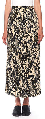 The Row Lawrence Floral-Print Silk Maxi Skirt