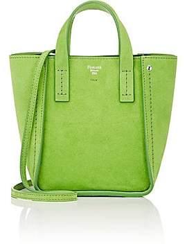 Fontana Milano Women's Tum Tum Toy Suede Tote Bag - Verde Mela Green Apple