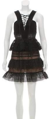 Self-Portrait Sleeveless Lace Dress w/ Tags