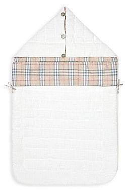 Burberry Baby's Rowens Checked Hooded Sleeping Bag
