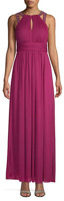 Eliza J Shirred Ruched Gown